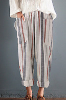 Loose Fitting  Striped Pants