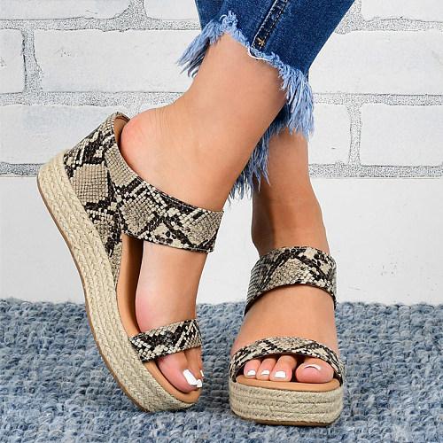 Women's wedge Hemp Rope Sandals