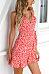 Spaghetti Strap  Asymmetric Hem  Floral  Sleeveless Casual Dresses