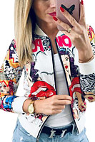 Women Abstract Print Jackets
