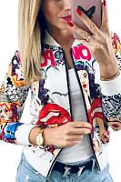 Women Abstract Print Jackets