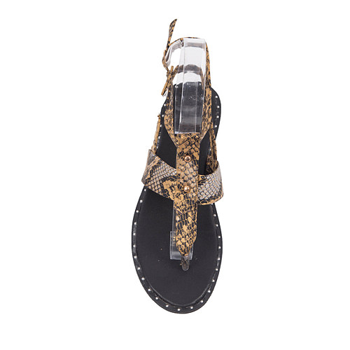 Animal Printed  Flat  Peep Toe  Casual Travel Flat Sandals
