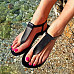 Plain Flat Peep Toe Flat Sandals